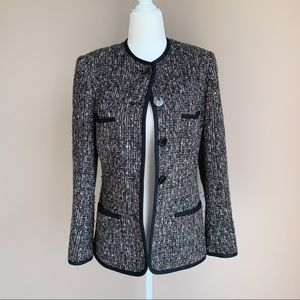 Saks Fifth Avenue Vintage Tweed Blazer Jacket
